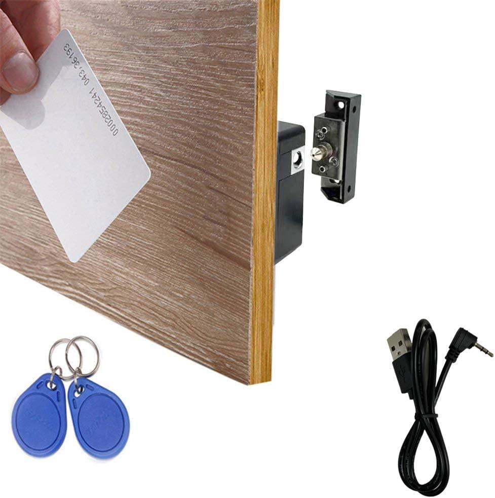 Black ETEKJOY RFID Electronic Cabinet Lock Hidden DIY for Wooden Drawer Cabinet