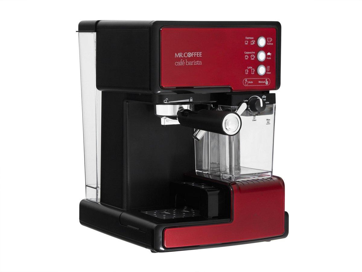 Mr. Coffee ECMP1106 Cafe Barista Premium Espresso/Cappuccino System, Red