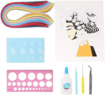Quilling Tools Kit 8 PCS Quilling Paper Strips Supplies for DIY Hand Craft Decoration