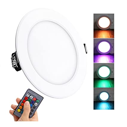 Remote Contro 2019 New Style Multicolor Ultra-thin Led Round Ceiling Light Modern Panel Lamp Lighting Fixture Living Room Bedroom Kitchen Ceiling Lights