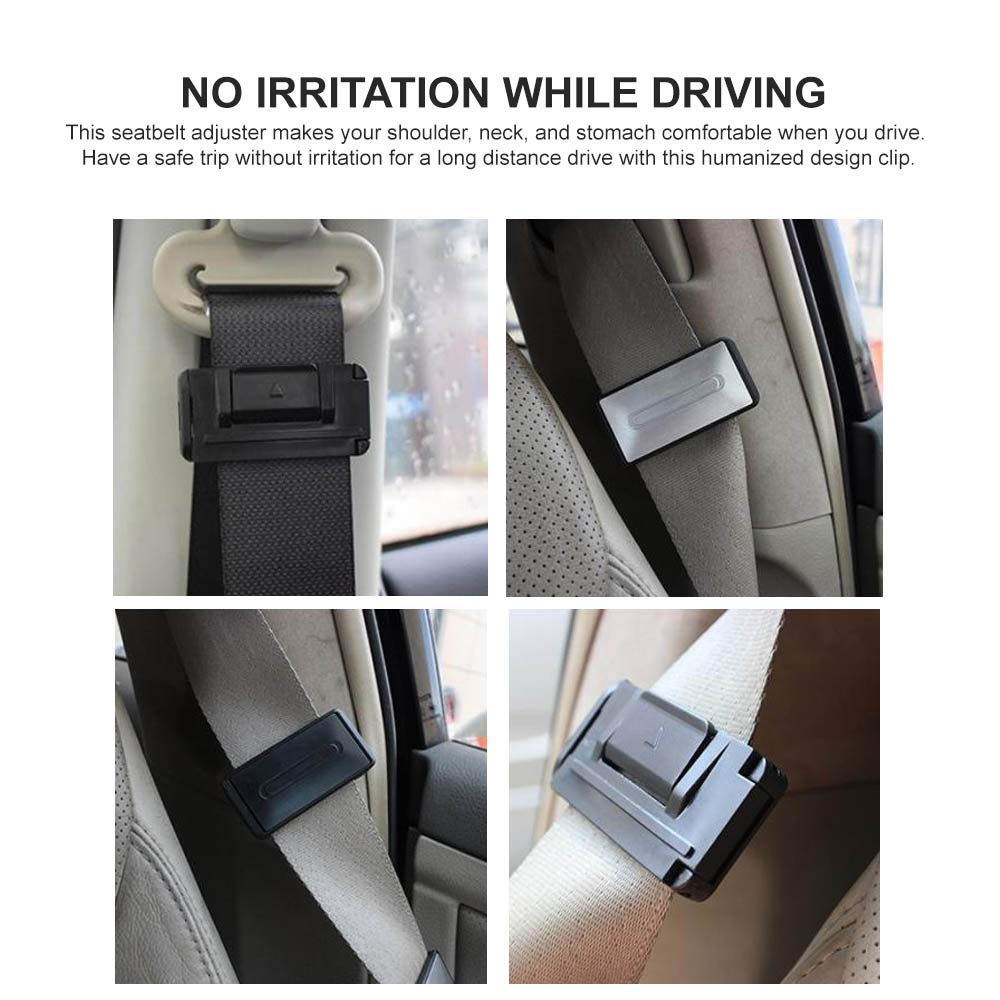 Car Seat Belt Adjuster Seatbelt ClipsSmart Adjust Seat Belts to Relax Neck a