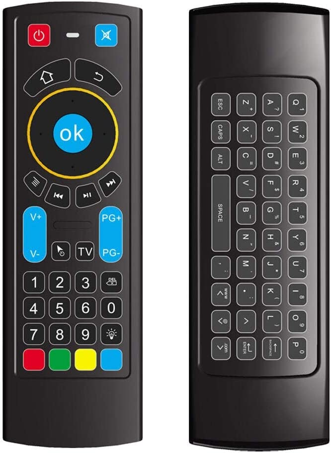 Calvas MX3 PRO 2.4GHz Computer Wireless Keyboard Backlit TV BOX Gaming Remote Control Smart Practical Mini Air Mouse Dual Sided