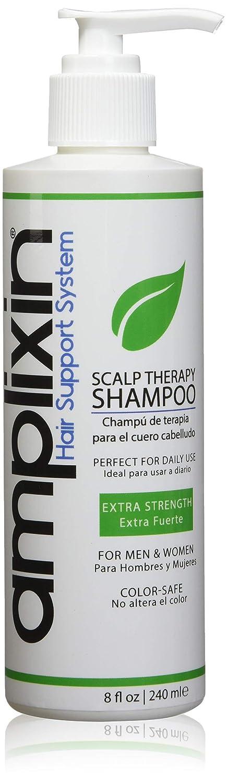 Amplixin - Champú de terapia de cuero cabelludo con cafeína y aceite de árbol de té para seco, escamas escamosas, 8 oz: Amazon.es: Belleza