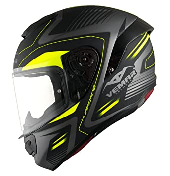 Vemar Casco (H037) Hurricane Laser 62-XL, color amarillo fluo, talla