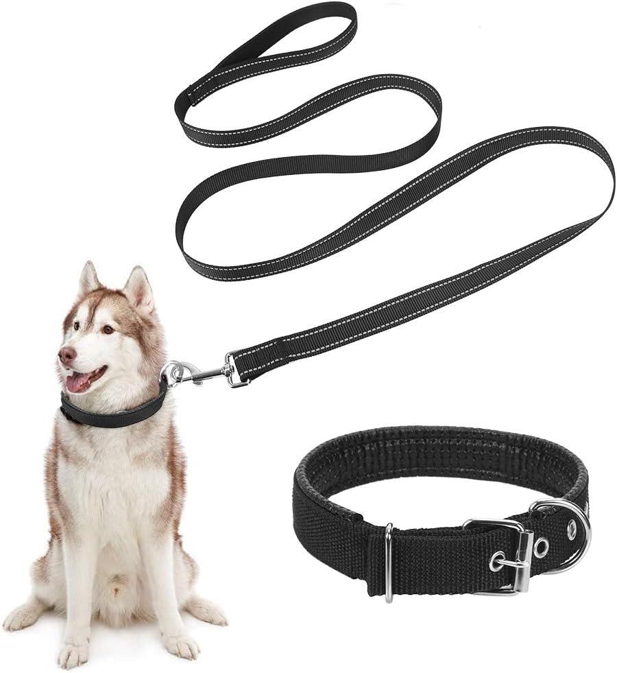 Yisatann Correas para Perros Heavy and Duty Large Dog Leash Correa para Adiestramiento De Perros Trenzada De Cuero Genuino para Shepherd Bulldog Labrador Gold Retriever Pet Leads