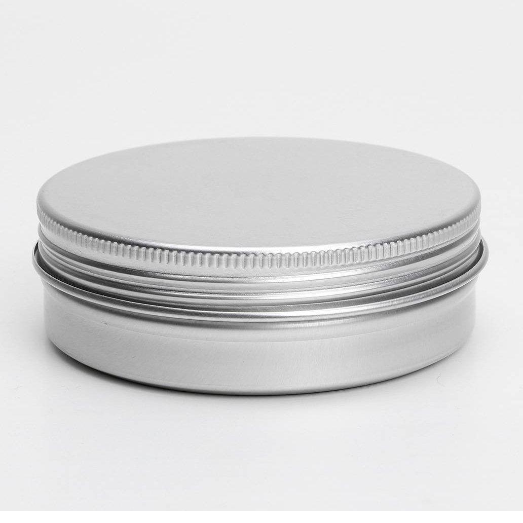 SODIAL(R) 50 x Empty Cosmetics Pot Lip Balm Aluminum Jar Container Screw Cap 15ml