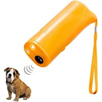 Foxgor Portable Dog Repellent Trainer Device, Handheld 3-in-1 Ultra Sonic Pet Repeller Anti Barking Outdoor Bark Controller with LED Flashlight for Outdoor Camping Garden, No Harms