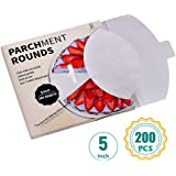 "Katbite Round Patty Paper-200, 5 Inch,6""7""8""9""10""12"" Parchment Rounds Available, Uses for Patty Separating and Freezing"
