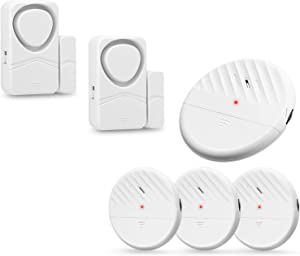 WSDCAM Window Alarm for Home Security System, 4 Pack Glass Break Alarm & 2 Pack Magnetic Alarm