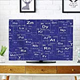 Leighhome Cord Cover for Wall Mounted tv Elements in Style Science Classroom Backdrop Royal Blue and White Cover Mounted tv W19 x H30 INCH/TV 32'
