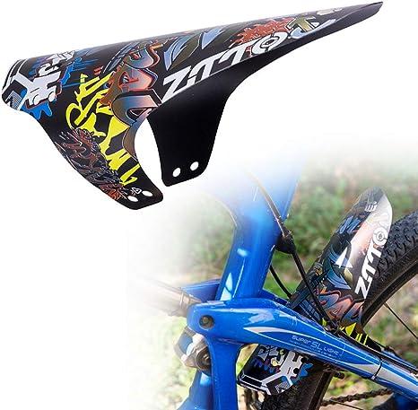 Marshguard Protector de Cara Delantera de la Bicicleta de Ciclo Fender Fender Plana Guardabarros de Bicicletas de monta/ña Accesorios para Bicicletas Las Horquillas con Lazo Negro 1pc