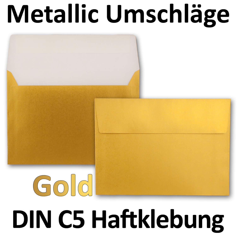 estraza gesamtparent Color Dorado met/álico 75 Umschl/äge neuser Color froh Sobres C5/162/x 229/mm