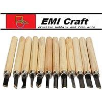 Conjunto de cinceles para tallar madera K9Q, 12