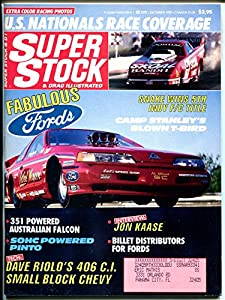 Super Stock & Drag Illustrated 12/1989-John Kaase-blown T-Bird-NHRA-IHRA-VG