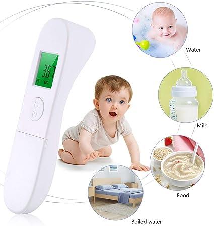 CK-T1503 Hand-Temperaturmessung Stehthermometer Home Ber/ührungsloses tragbares hochpr/äzises Thermometer Nowakk Infrarot-Thermometer