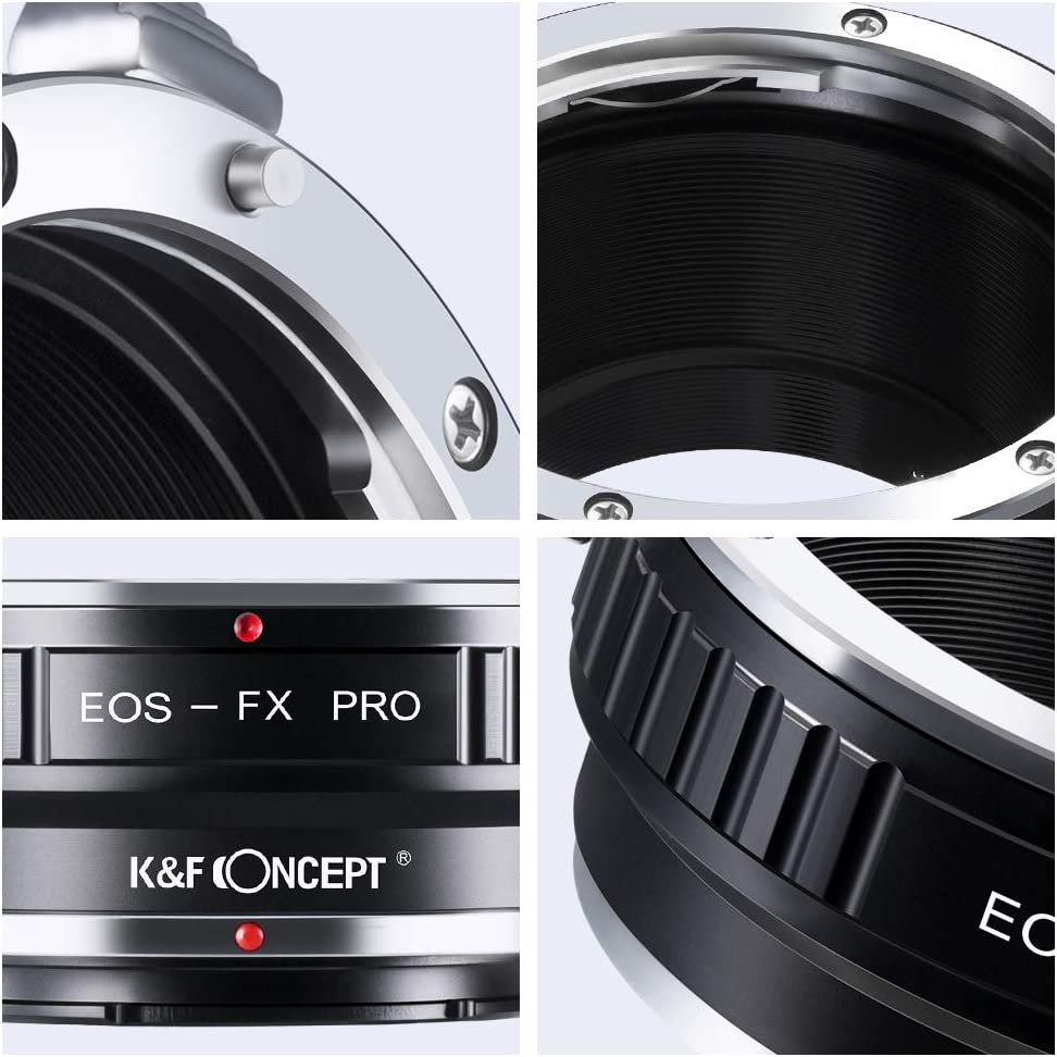 K/&F Concept Lens Mount Adapter with Light-reducing Paint for EOS EF//EFS Lens to FujiFX Mount X-Pro1 X Camera X-Series Mirrorless Cameras