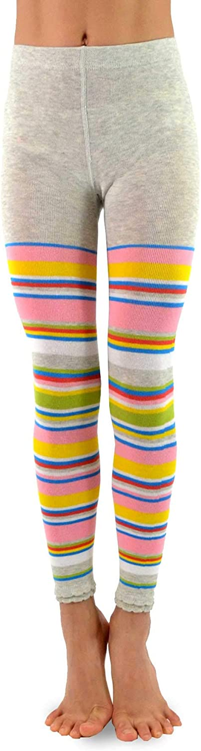 Kids Girls Fashion Cotton Leggings TeeHee Footless Tights 3 Pair Pack Naartjie