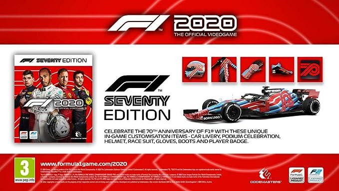 F1 2020 - Seventy Edition (PS4) (English, Spanish, French, German, Italian): Amazon.es: Videojuegos