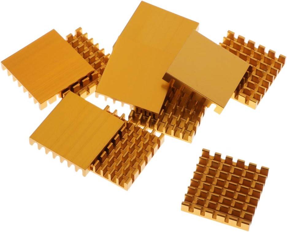 Gazechimp 1 Set of Heatsinks 10 Pcs of Copper Sink Cooling Kit IC Circuit Board