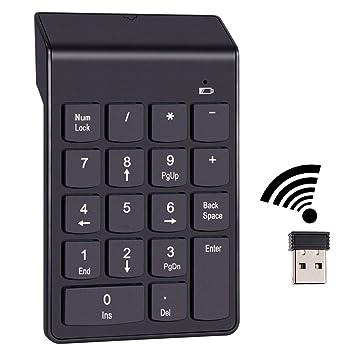 2,4 G USB Teclado número, 18 Llaves USB inalámbrico Teclado numérico, Recibir