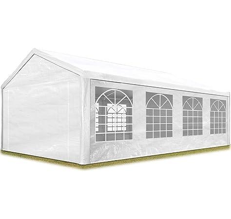 TOOLPORT Carpa para Fiestas Carpa de Fiesta 5x8 m Carpa de pabellón de jardín Aprox. 500g/m² Lona PVC en Blanco Impermeable: Amazon.es: Jardín