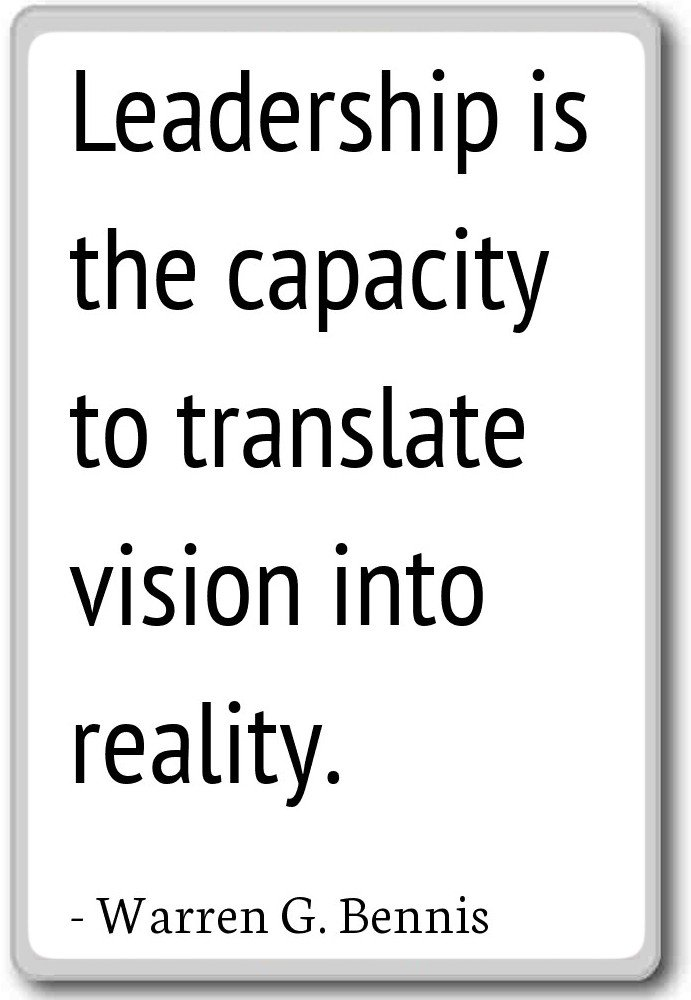 Amazon Leadership Is The Capacity To Translate Vi Warren G