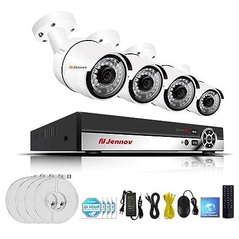 2CH 4CH 6CH 8CH 1080P PoE CCTV Kit Cámara De Seguridad Sistema De Videovigilancia Cámara IP ...
