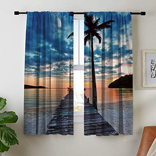 Misscc Decorative Room Darkening Blackout Curtain