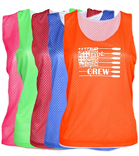 Crew Mesh Pinnie Live Love Logo (Neon Green, L/XL)