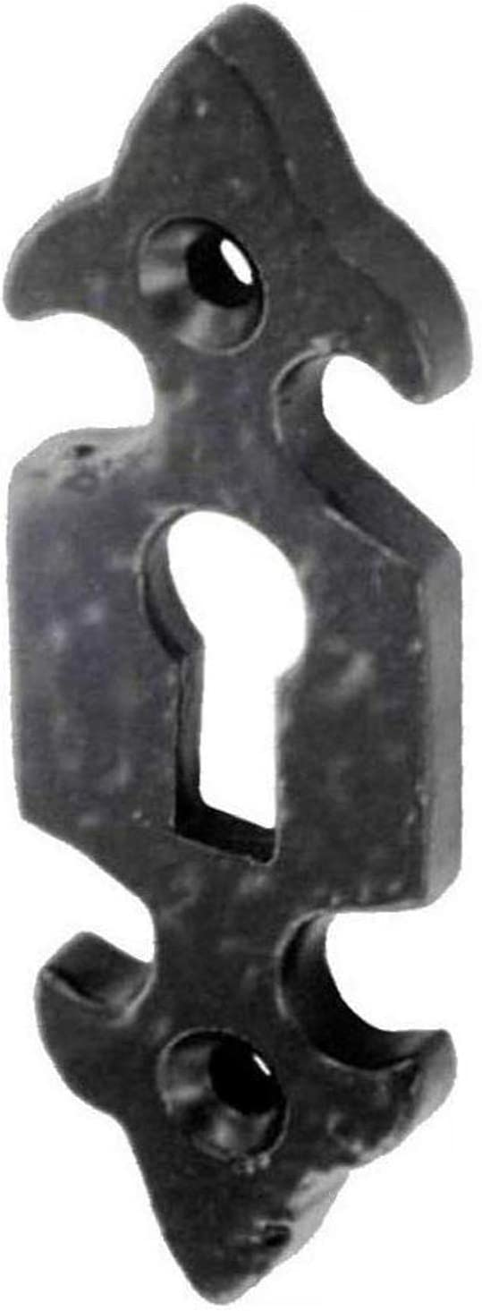 75 x 25 mm Dzina Fleur-de-LYS T/ürrosette Schwarz offen antikes Eisen