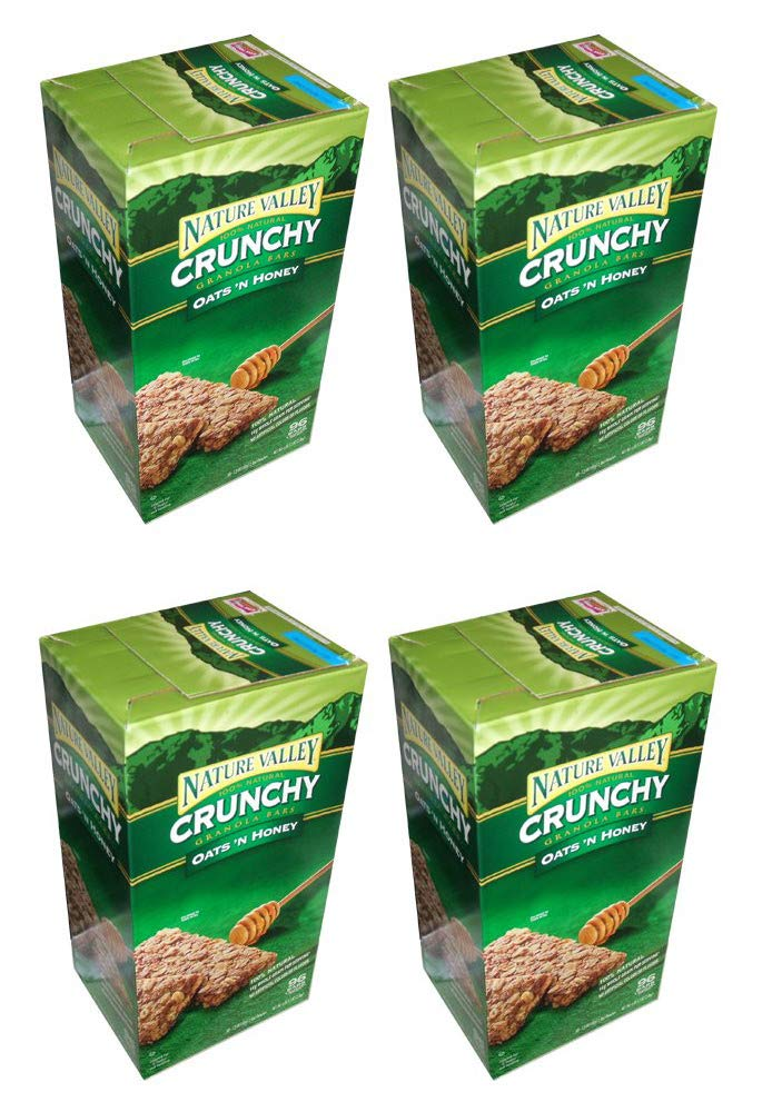 Nature Valley Crunchy Granola Bars Oats 'N Honey, 98 Bars (4 Boxes)