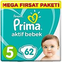 Prima Bebek Bezi Aktif Bebek, 5 Beden, 62 Adet, Junior Mega Fırsat Paketi