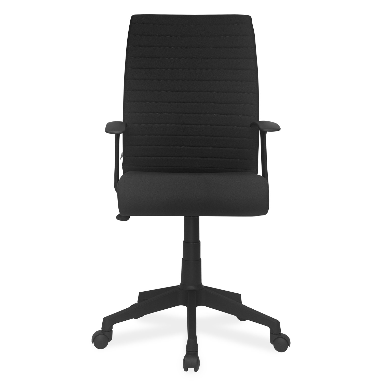 4c80f233cdb Nilkamal Thames FLOMMFABPSHT708BLK Medium-Back Office Chair (Black)   Amazon.in  Home   Kitchen