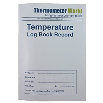 Temperature Food Hygiene Log Book 6 Months - Monitor Fridge Freezer Cooking  Baking Temperature Food Safety and Hygiene