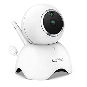 Additional Camera Unit Only Compatible with Homiee BM1003, 720P Surveillance Camera Indoor IP Camera with Night Vision