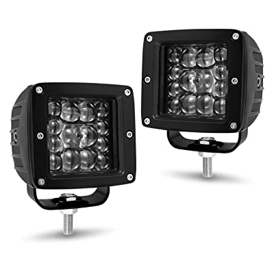 LED Cubes Light, Yvoone-Auto 3inch CREE LED Light Pods Off Road Driving Lights automotive Square led Work Light Square Driving Fog Waterproof Spot Flood Combo Beam for Truck Jeep ATV UTV SUV Boat: Automotive