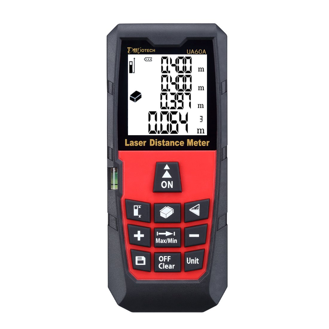 Laser Distance Measure 196ft 60m Mini Handheld Digital Laser Distance Meter Rangefinder Measurer Tape Diastimeter with LCD Backlight Red