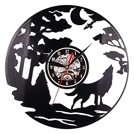 Wall Clocks - 2019 Arrival Vinyl Wall Clock Art Gift Room Modern Home Record Vintage Decoration