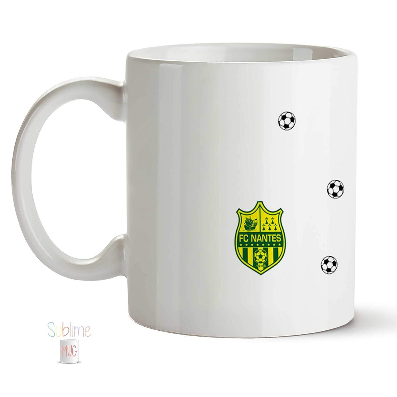 cadeau anniversaire Mug Football Club de Nantes Mug FC Nantes personnalis/é cadeau de no/ël