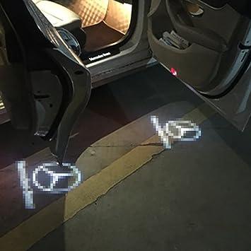 LIGHTUPRO 4 pack LED Projector for Mercedes Benz Logo Step Door Courtesy Welcome Light Ghost Shadow & LIGHTUPRO 4 pack LED Projector for Mercedes Benz Logo Step Door ...