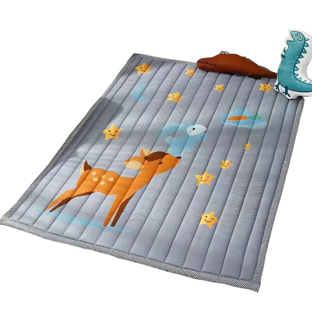 限定版 Prula 洗濯機洗い可能 キッズティピーマット 洗濯機洗い可能 子供用 子供用 滑り止めプレイマット ノンスリップ 厚手カーペット 子供部屋 装飾 厚手カーペット グレー フォーン B07PGVRQQ9, THE USA SURF:891ee6d5 --- outdev.net