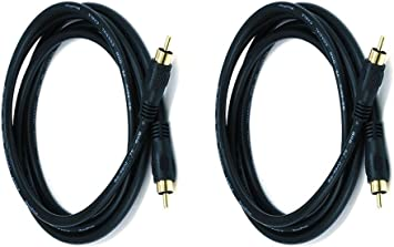 - Gold Plated Dual Shielded RCA to RCA Male Connectors TNP Subwoofer S//PDIF Audio Digital Coaxial RCA Composite Video Cable 30 Feet Black