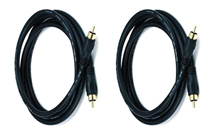 C&E 2 PCS, Coaxial Audio/Video RCA Cable M/M RG59U 75 for