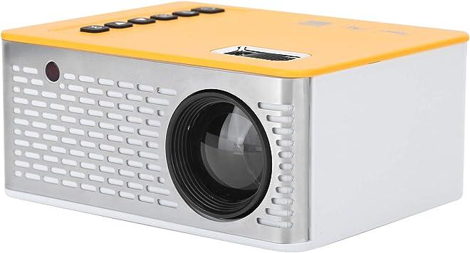 Opinión sobre Proyector LED para niños, portátil, hogar, Cine Familiar, Soporte para teléfono móvil, conexión de Pantalla y Cable, Viene con Control Remoto