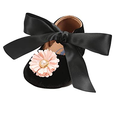 b39fe36817e Image Unavailable. Image not available for. Color  Rosiest Baby Girl  Bandage Velvet Shoes Fashion Toddler First Walkers Kid Shoe