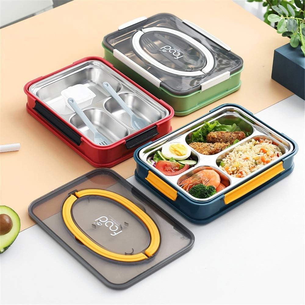 JOMSK 304 Acero Inoxidable Caja de Almuerzo con Box Lunch Estudiante de educación Superior de Split Rejilla portátil portátil de la Caja de Almuerzo Almuerzo Fuera