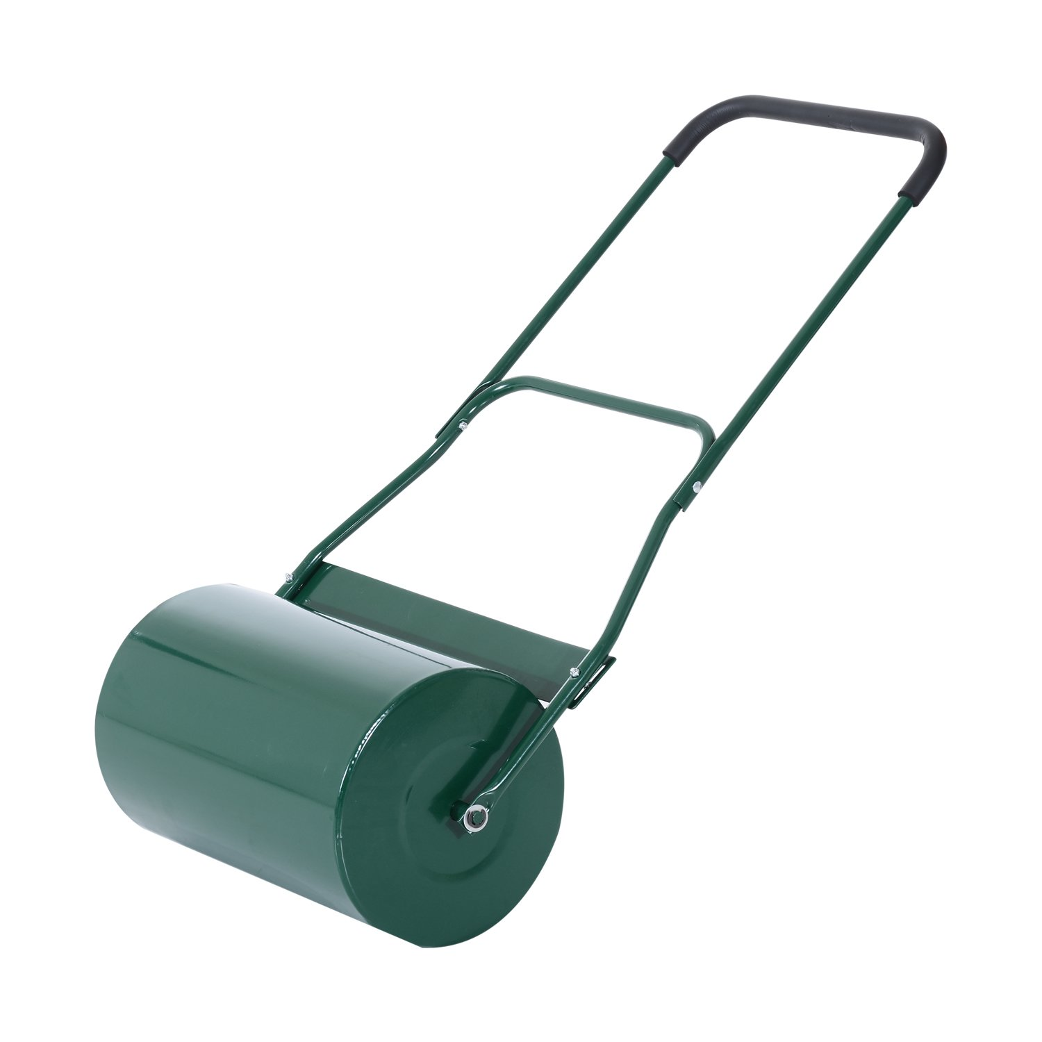 Outsunny 40L Lawn Roller Drum Scraper Bar Collapsible Handle Water or Sand Filled Φ32cm Green Sold By MHSTAR UK845-0600331