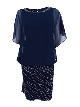 291e9d35e40e Image Unavailable. Image not available for. Color: J Kara Women's Beaded  Chiffon Blouson Dress ...