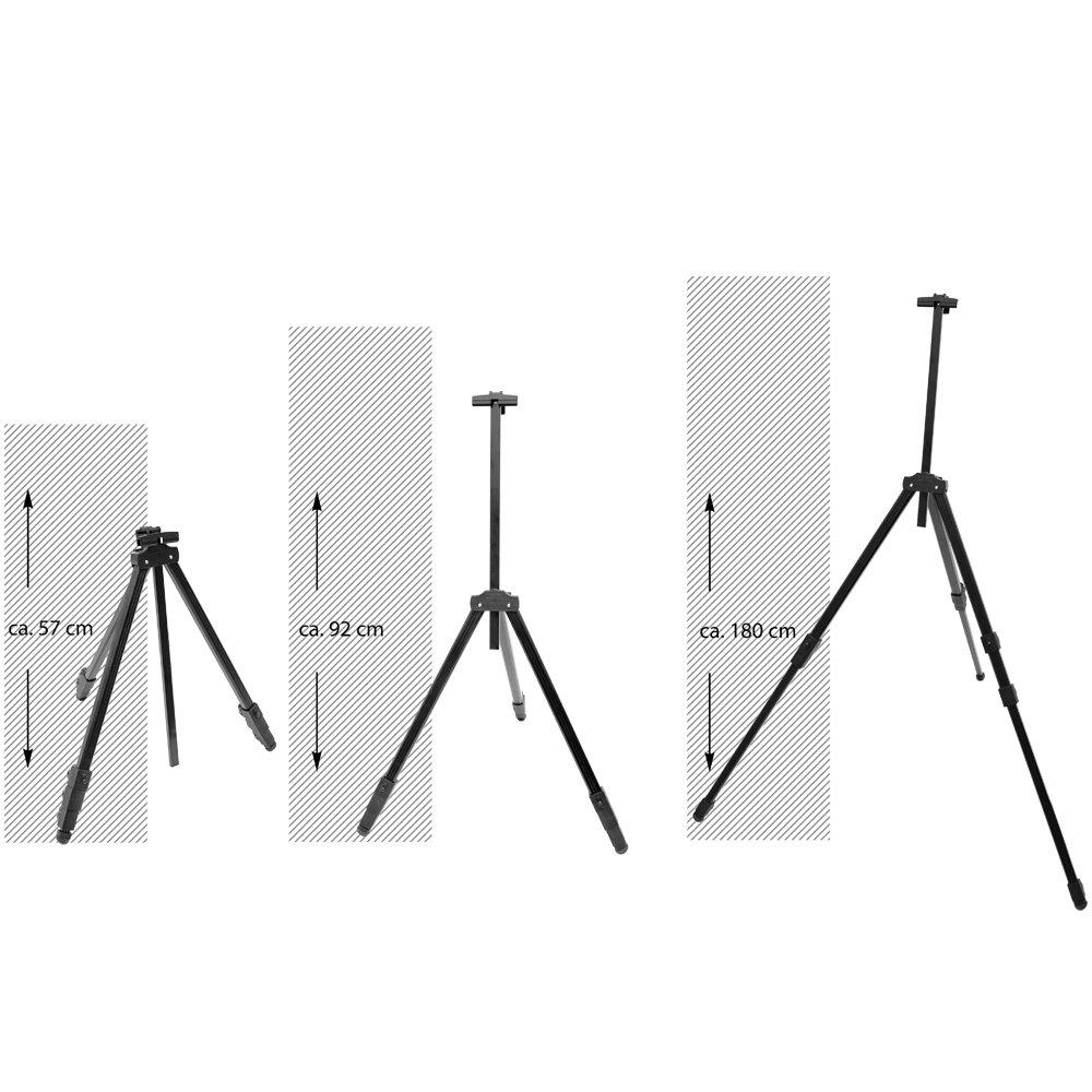 eyepower Caballete de campo port/átil para pintores 52-155cm tr/ípode de Aluminio