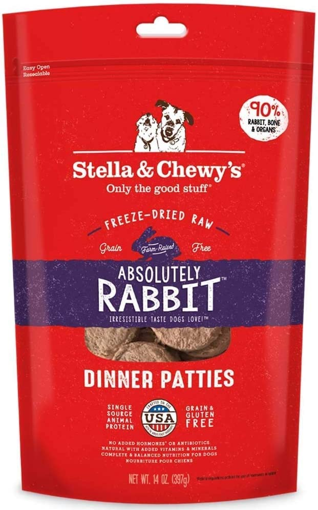 Stella and Chewy's Freeze-Dried Absolutely Rabbit Dinner Patties Dog Food (2 Pack)